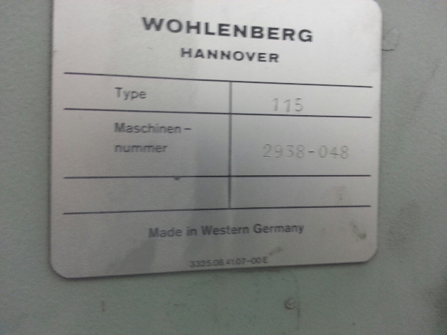 Wohlenberg 115 paper cutter with microcut jr